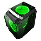 Coolman Gorilla Glass ATX Mid Tower Gaming Computer PC Case w/ 3 Color LED Fans