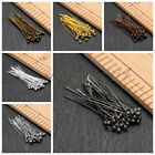 Wholesale Silver Gold Plated Flat Head Pin Jewelry Finding 16/20/30/40/50/60mm