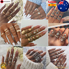 Textured Ring Stacking Pack Boho Instagram Style Bohemian Rings Set Aus