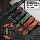 Vegetable-Tanned Leather Apple Watch Band Strap iWatch Series 5 4 3 42mm 44mm image