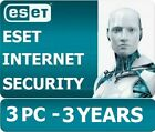 2019 ESET INTERNET SECURITY 2019 -3 Computers 3 years - Instant Key via Email