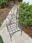 Antique Garden Bistro Iron Chair Set Metal Fermob French Country Cafe RARE!!