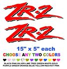 ZR-2  ZR2  STICKERS DECALS   ANY COLORS  GMC SONOMA  OFF ROAD S10 S-10 BEDSIDE