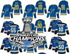 2019 Stanley Cup Champions jersey St. Louis Blues 50 Binnington Schwartz ... $39.99 USD on eBay