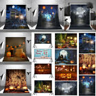 USA Photography Backdrop Halloween Cloth Pumpkin Castle Studio Props Background
