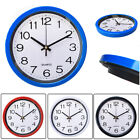 Silent Wall Clock Simplicity  Round Quartz Bell Battery Operated Wall Clock