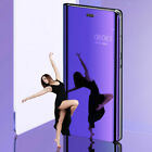 Luxury Smart Mirror View Leather Flip Stand Case Cover For Samsung Galaxy Phones