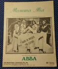 ABBA SHEET MUSIC Mamma Mia 1975 Sweden Pop Australia