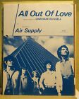 AIR SUPPLY Sheet Music ALL OUT OF LOVE 1980 Australia Pop Soft Rock