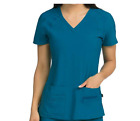 Med Couture Activate Women  s V-Neck Racerback Scrub Top 8416
