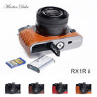 Genuine Real Leather Half Camera Case Bag Cover for Sony RX1R II mark II M2 OPEN