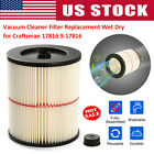 Replacement Shop Vac Filter for Sears Craftsman 5+ 6 8 12 16 gallon Wet Dry Vac