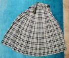 Women's Alice Collins Brown/Blue Pleated Skirt. Size 14