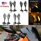 Motorcycle Mirrors LED Turn Signals for Kawasaki Ninja EX250 300 EX500 Ninja636 $29.9 USD on eBay