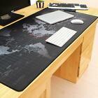 Extra Large Mouse Pad World Map Mousepad Anti-slip Gaming Mouse Mat Locking Edge