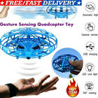Mini Drone Infrared Sensor UFO Flying Toy Induction Aircraft Quadcopter  Kids