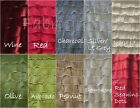 """1"""" Ruffle Polyester Spandex Stretch Fabric By The Yard, 10 Colors"""