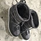 Rue 21 Ladies Lace Up Inner Faux Fur Winter/Snow Boots Grey M/7-8 L/8-9