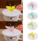 Butterfly Silicone Leakproof Coffee Mug Suction Cap Airtight Seal Cup Abdeckung günstig