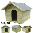 Garden Wooden Dog Kennel Pet House Home Cage Outdoor Animal Shelter Opening Roof