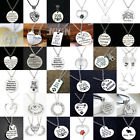 Engraved Pendant Necklace Chain Family Best Friends Birthday Gift Xmas Christmas