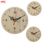 Office Wooden Round Living Room Numerals Quartz Small Wall Clock Vintage Style