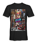 90's RAP music biggie smalls, and 2pac portrait t-shirt image