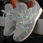 Womens Sequin Glitter Sneakers Ladies Fashion Sparkle Trainers Walk Shoes Size