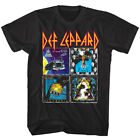 Def Leppard 80s Album Covers Men's T Shirt Glam Hair Rock Band Concert Merch Top image