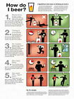 Five Laws of Drinking at Work Cool Beer Wall Print POSTER DE
