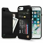 Iphone X/Xs Wallet PU Leather Flip Magnetic Slim Phone Case With Cash Card Slots