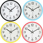 10'' Silent Wall Clock Classic Modern Large Digits Non-ticking Round Home Office