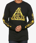 Harry Potter FLORAL DEATHLY HALLOWS Long Sleeve T-Shirt NEW Authentic & Official image