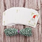 50pcs/lot Merry Christmas DIY Unique Gift Tags Small Card Optional String DIY