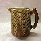 ATQ/VTG Corn Cob Pitcher Glazed Pottery Stoneware 6-1/2""