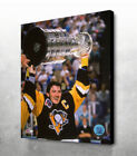 """Mario Lemiuex Pittsburgh Penguins """"RAISE THE CUP"""" NHL® Licensed Collectible Canv $74.99 USD on eBay"""