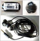 Genuine BlackBerry WH-60 / 3.5mm Stereo Handsfree Headset Earphones - Black