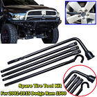 Scissor Jack Spare Tyre Lug Wrench For Dodge Ram 1500 Ford F-150 Chevy GMC Truck
