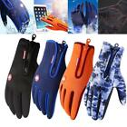 New Winter Mens Warm And Wind-proof Waterproof Gloves Ladies Non-Slip Touch Scre
