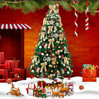 4'/5'/6'/7' Green Artificial Christmas Tree Solid Stand Holiday Home Decoration