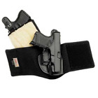 Galco Black Leather Ankle Glove Conceal Carry Sheepskin Padded Ankle Gun Holster