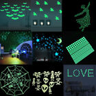Halloween Glow In The Dark Witch Shape 3d Wall Stickers Diy Decorations Decals