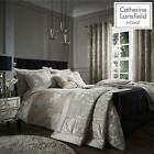 Catherine Lansfield Crushed Velvet Natural Duvet Set Reversible Bedding Spread