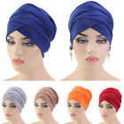 Women Muslim Headscarf Turban Hijab Hat Long Tail Head Wrap Cover Cap Headwear