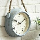 Iron Hanging Wall Clock Vintage Looking Minimalist Scandinavian 8