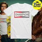 Once Upon a Time In Hollywood Brad Pitt Champion T-Shirt Gildan Unisex White Tee image