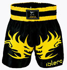 ISLERO Muay Thai Cage Fight Shorts MMA Kick Boxing Grappling Martial Arts UFC