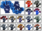 Wincraft Womens NFL Spirit Fingerz Pom Pom Gloves Team Knit $8.99 USD on eBay