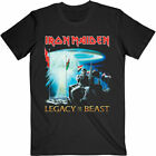 Official Iron Maiden T Shirt Two Minutes To Midnight Legacy Beast Black...