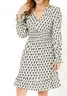 Marks and Spencer Printed Mini Frill Dress Size 8 NEW rrp £39.50